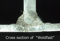 "Cross section of ""Weldfast"""